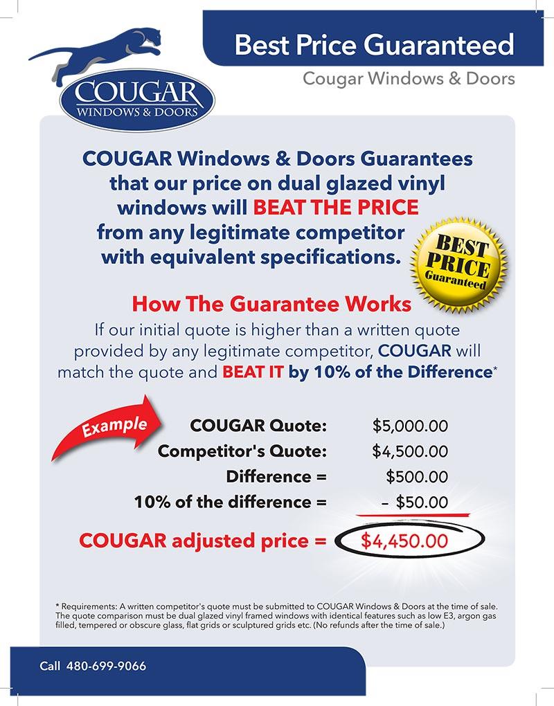 Price Guarantee Cougar Windows Amp Doors Mesa Az