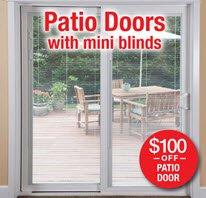 Patio Doors with Mini Blinds