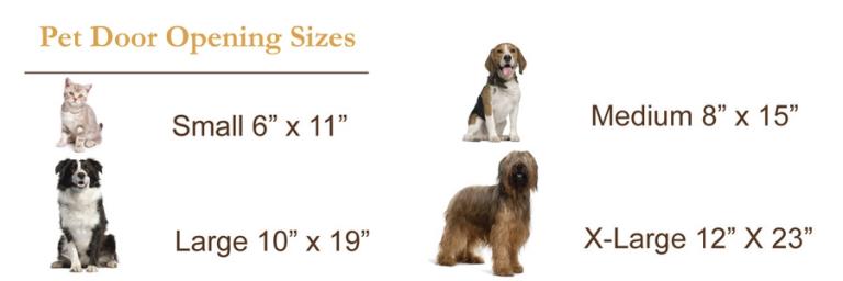 Pet Door Opening Sizes
